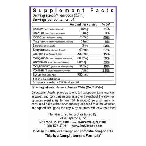 ReMyte - Soluzione minerale | Soluzione multiminerale pico-ionica della Dr. Dean - 240ml